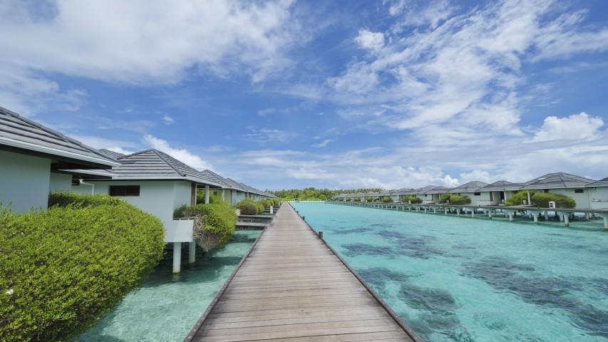 Water bungalows - Sun Island