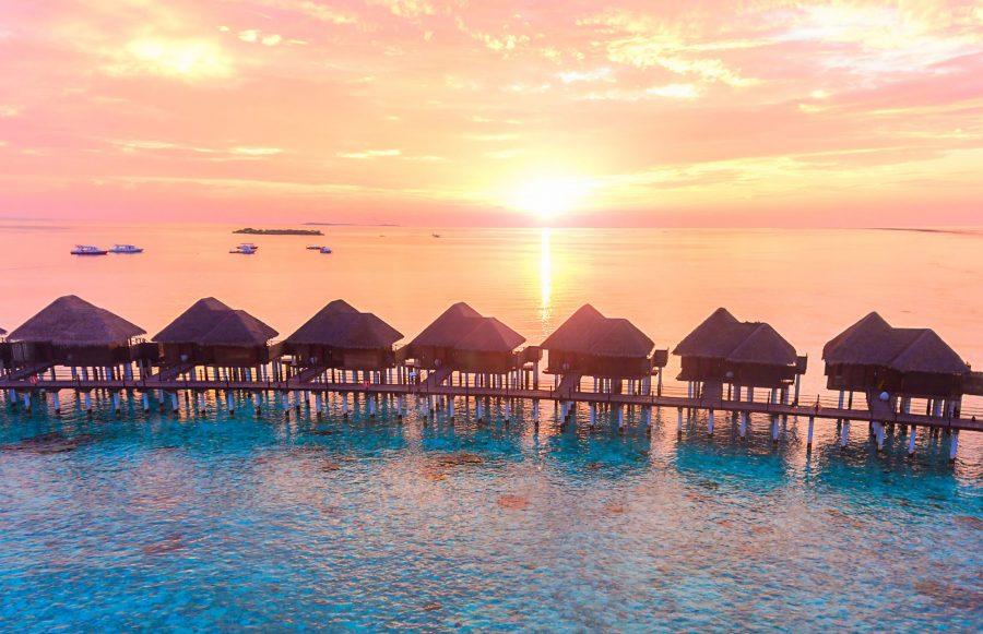 Sun Aqua Vilu Reef Sunset Reef Villa Sunset Maldives Water